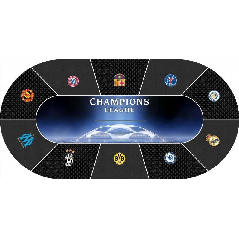 poker layout rubber grip oval champions