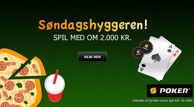Koden til Søndagshyggeren på Danske Spil Poker i dag!