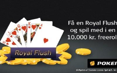 Ram Royal Straight Flush og få adgang til poker freeroll