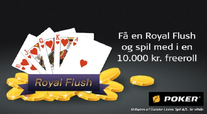 Ram Royal Straight Flush og få adgang til poker freeroll