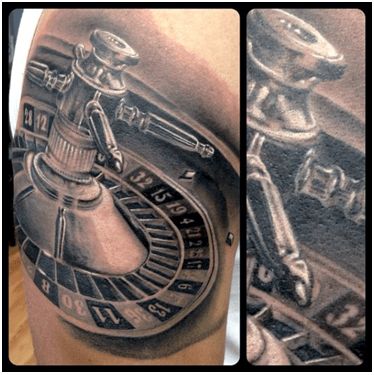 Large Roulette Tattoo