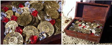 Pirate Gold Poker Chips