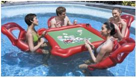 Inflatable Pool Poker