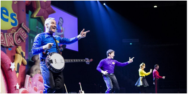 Wiggles performing