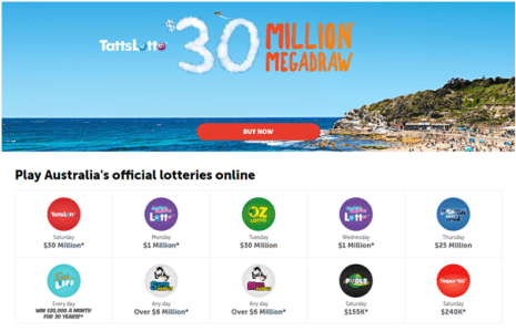Australian lotteries to win