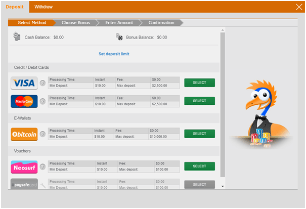 Emu Casino Deposits