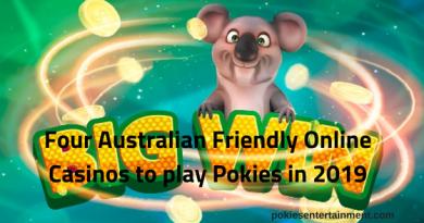 Four Australian Friendly Online Casinos to play Pokies in 2019