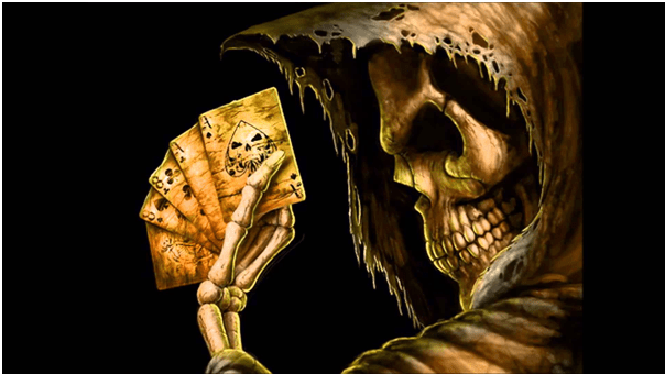 Dead Man's  hand poker cards