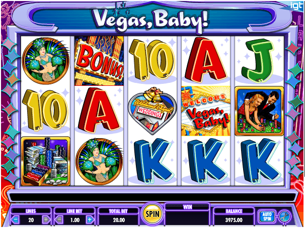 Vegas baby game features