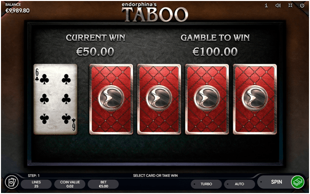 What you can win in this Taboo slot