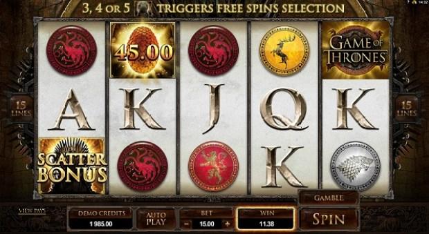 6 Game of Thrones Slot Machine