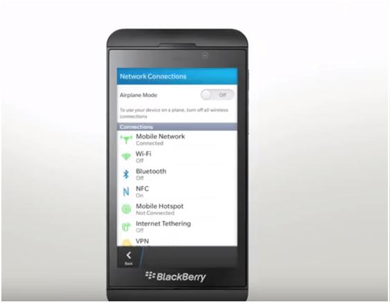 Blackberry 10 mobile hotspot