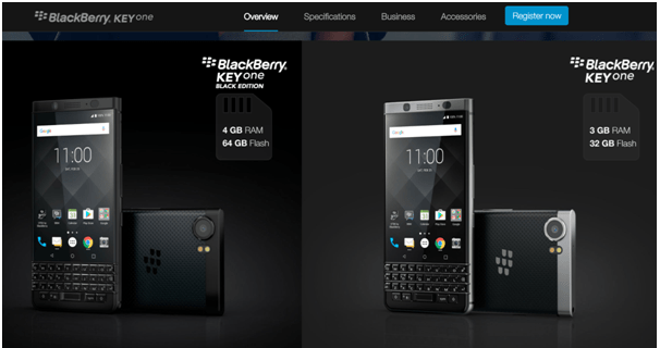 Blackberry Key One- Design