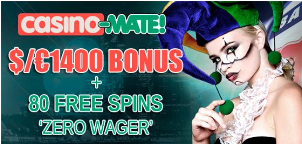 Casino Mate Bonuses