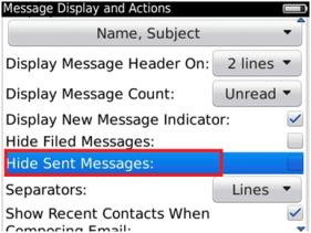 Hide Sent Messages
