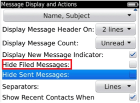Hide Filed Messages
