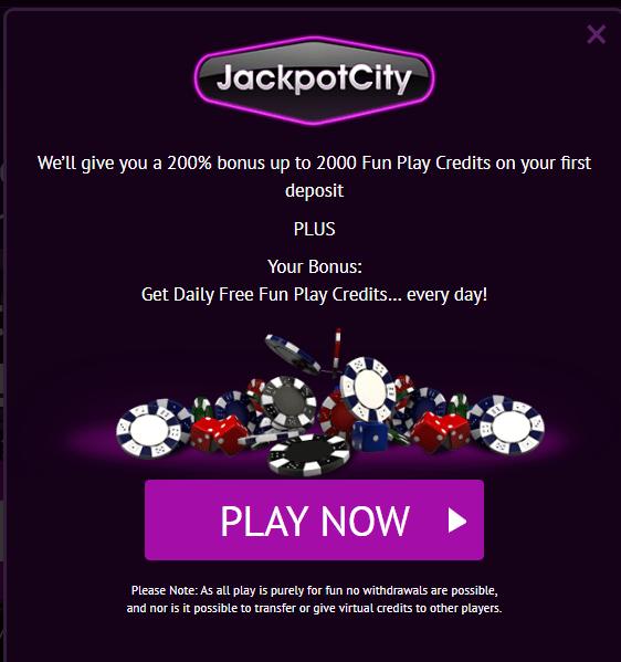 Jackpot City Casino play for free