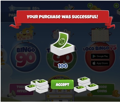 Loco Bingo coin purchases at FB