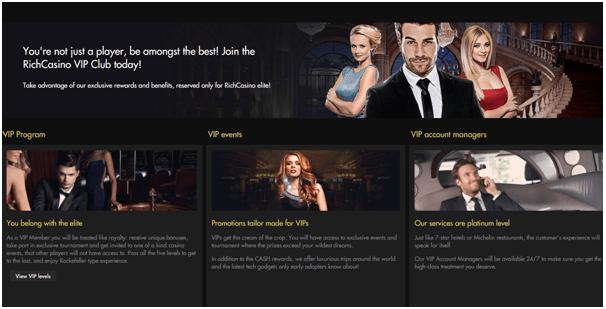 Rich Casino Australia- VIP
