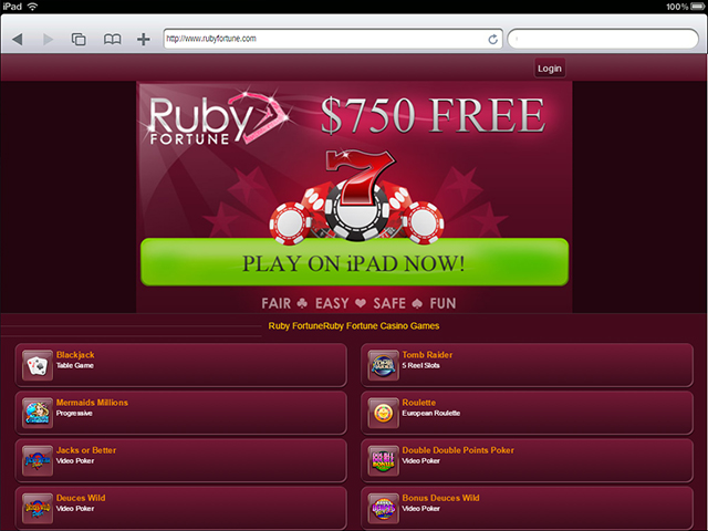ruby fortune ipad