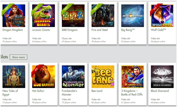 7 reels casino games