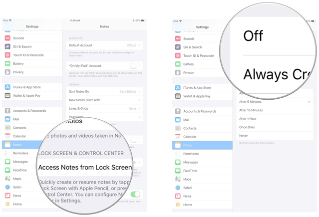 How to disable iPad Pro Notes new feature in iOS 11