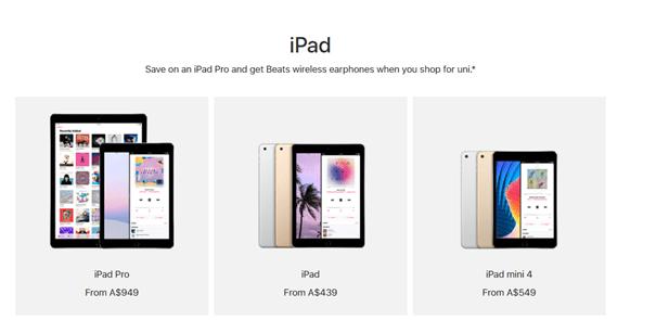iPad promo