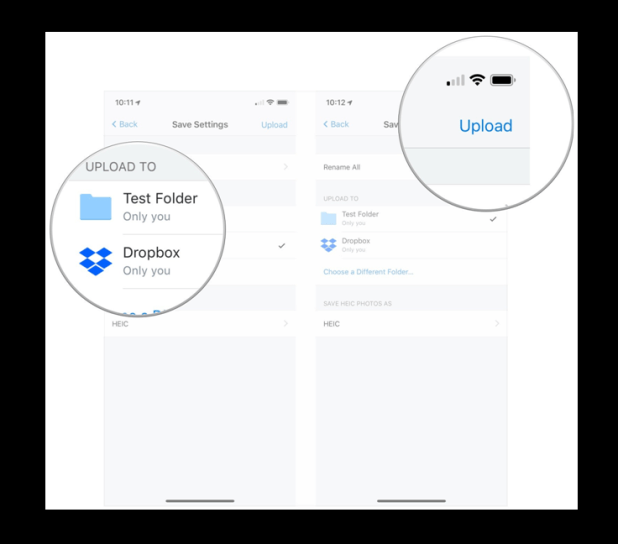 How to upload multiple files in iPad with dropbox