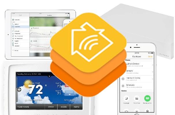 Home hub setting on iPad