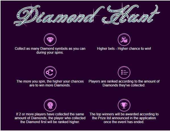 Diamond hunt on slots craze