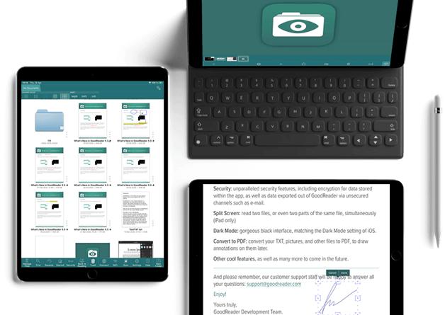 How to use GoodReader on iPad