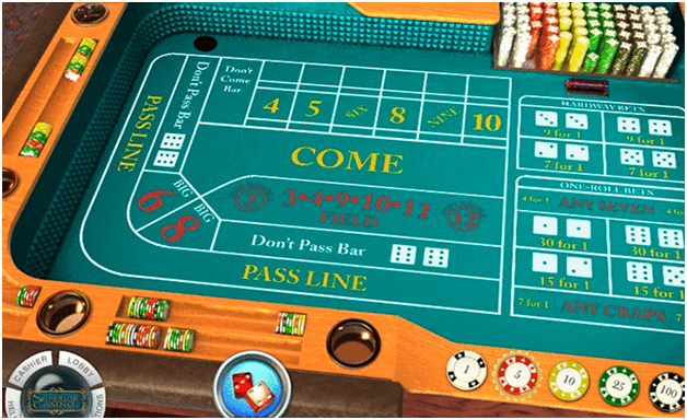 The rules to play casino craps