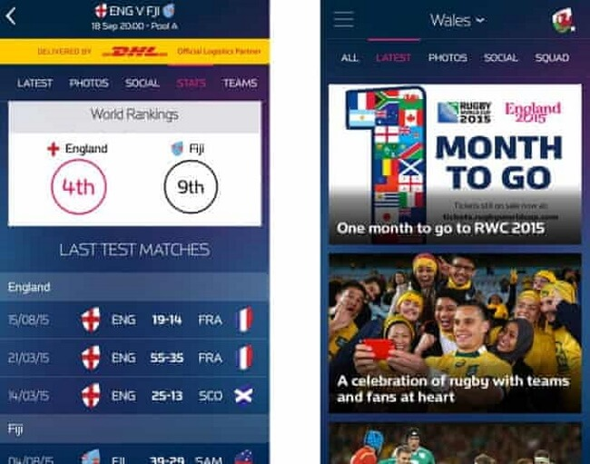 10 Most Popular Rugby World Cup Apps