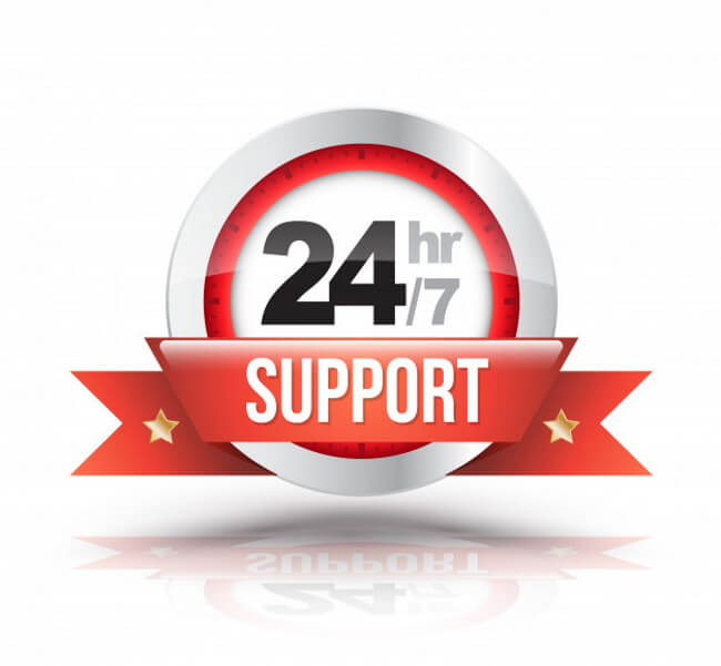 24/7 Support available
