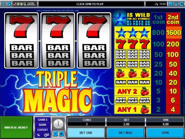 3 Reel Pokies Game - Triple Magic