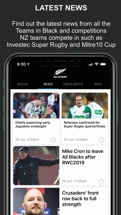 All Black Rugby Union Apps