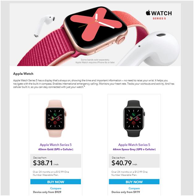 Apple watch one plan in NZ