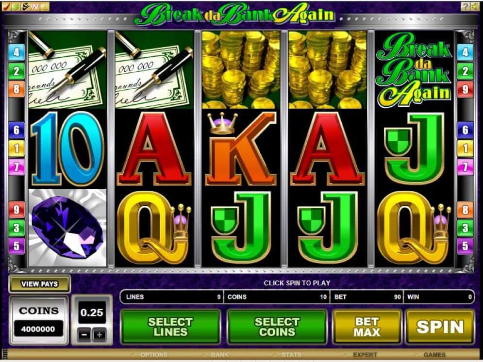 BREAK DA BANK pokies microgaming play for fun or real money