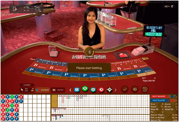 Baccarat game to play at home online