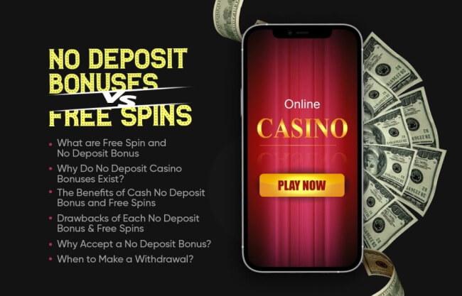 Cash No Deposit Bonuses VS Free Spins