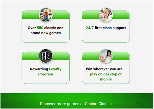 Casino Classic Loyalty program