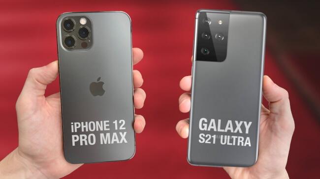 Design - Galaxy S21 Ultra vs. iPhone 12 Pro Max