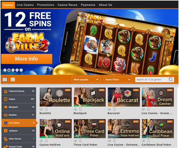 EMU Live Casino NZ