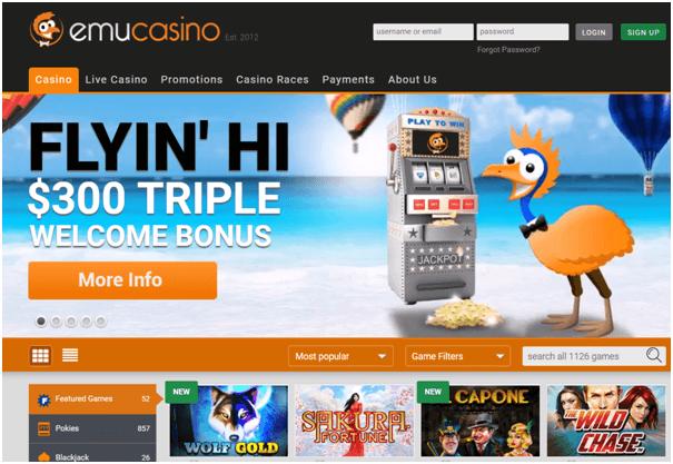 EMU casino for New Zealand Players