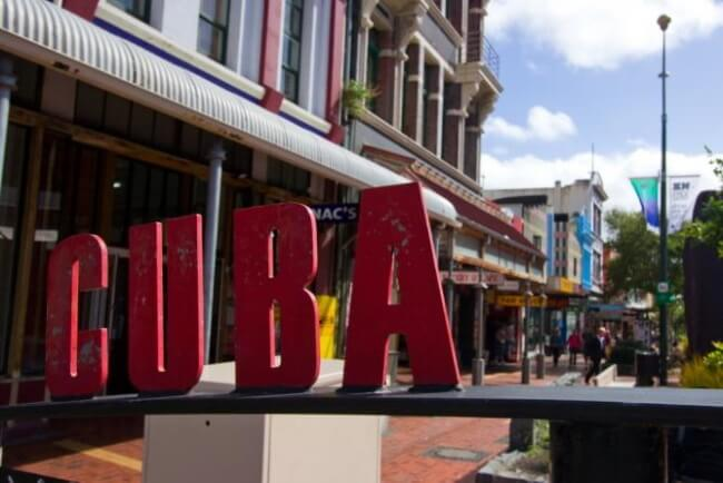 Enjoy A Coffee On Cuba Street