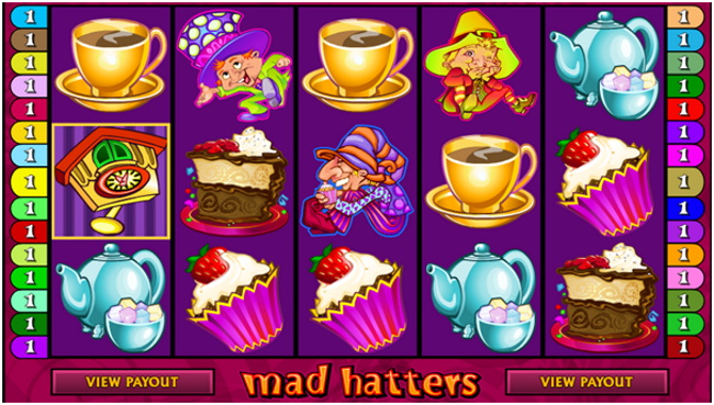 Features of Mad Hatters Pokies