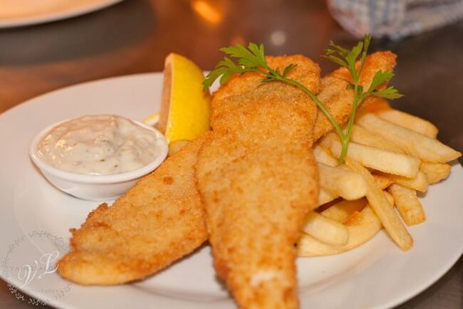 Get some Chips and Crumbed Fish