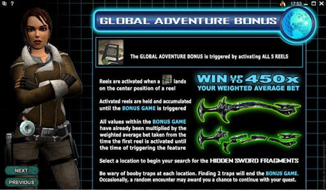 Global Adventure bonus game