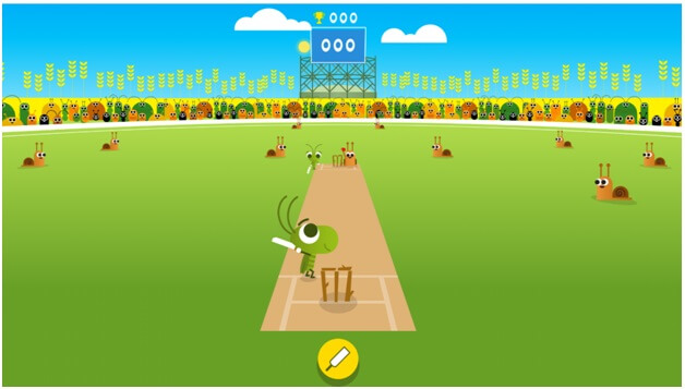 Google for doodle games-Cricket