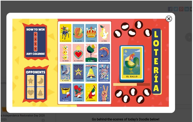 Google for doodle games- Loteria